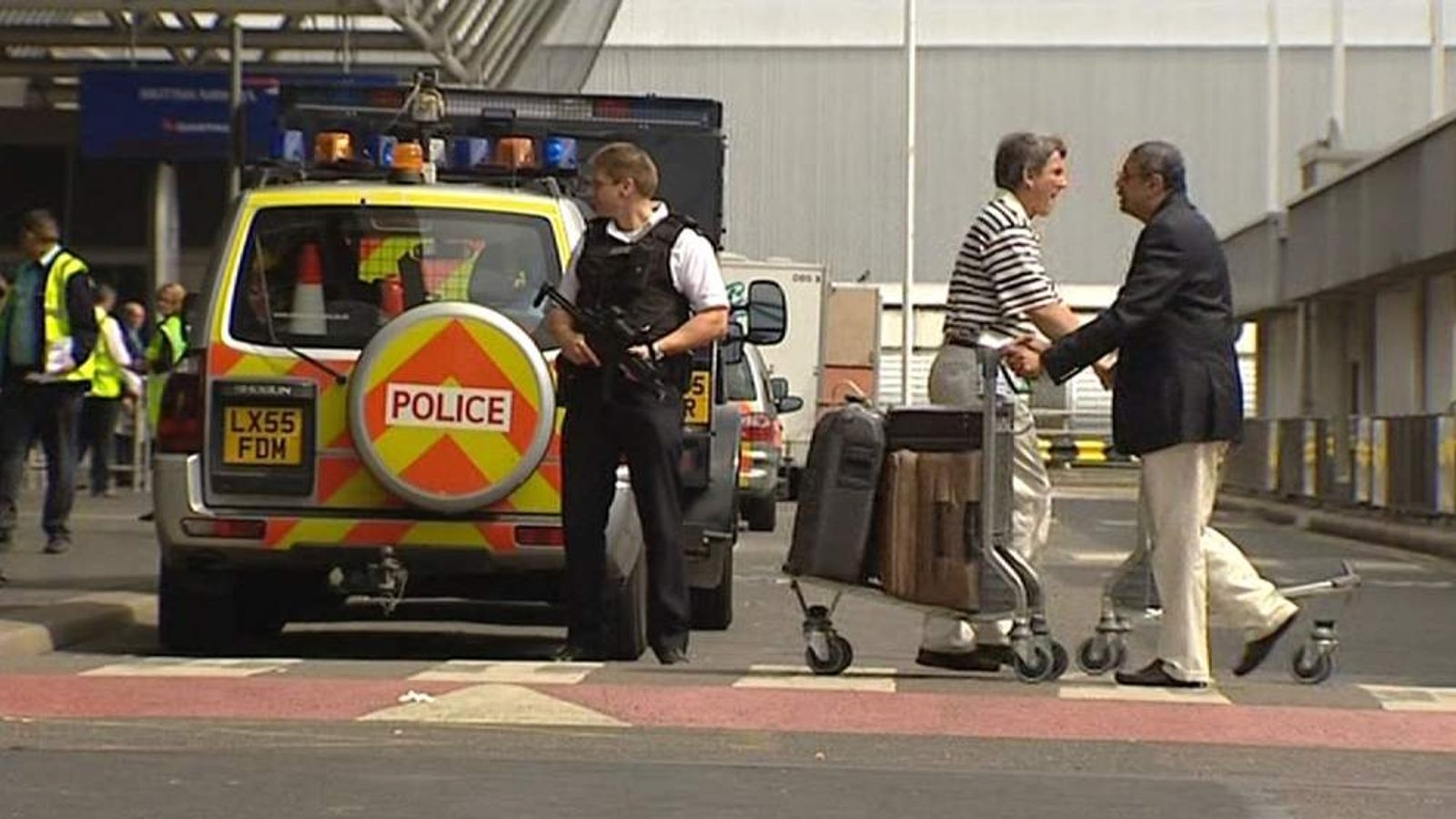 Police at a UK airport