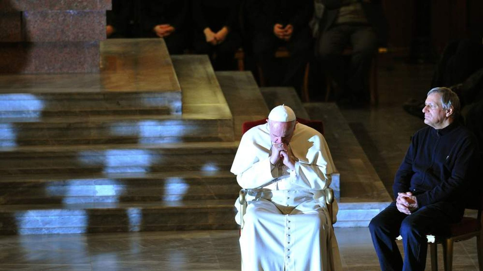 Pope Francis attends vigil against organised crime