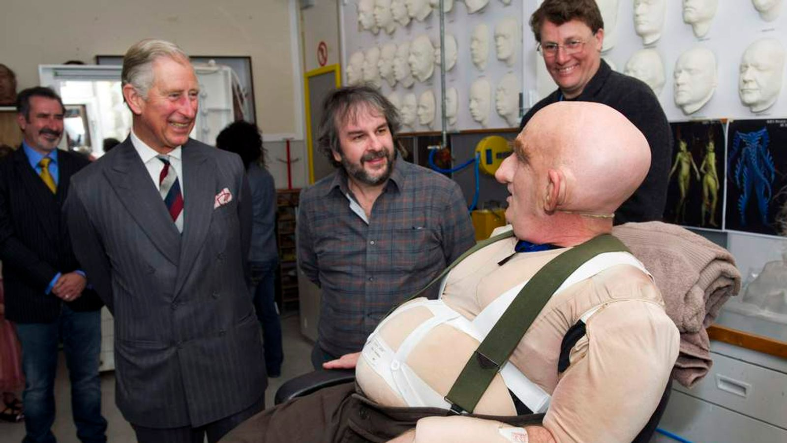 Prince Charles, Peter Hambleton And Sir Peter Jackson