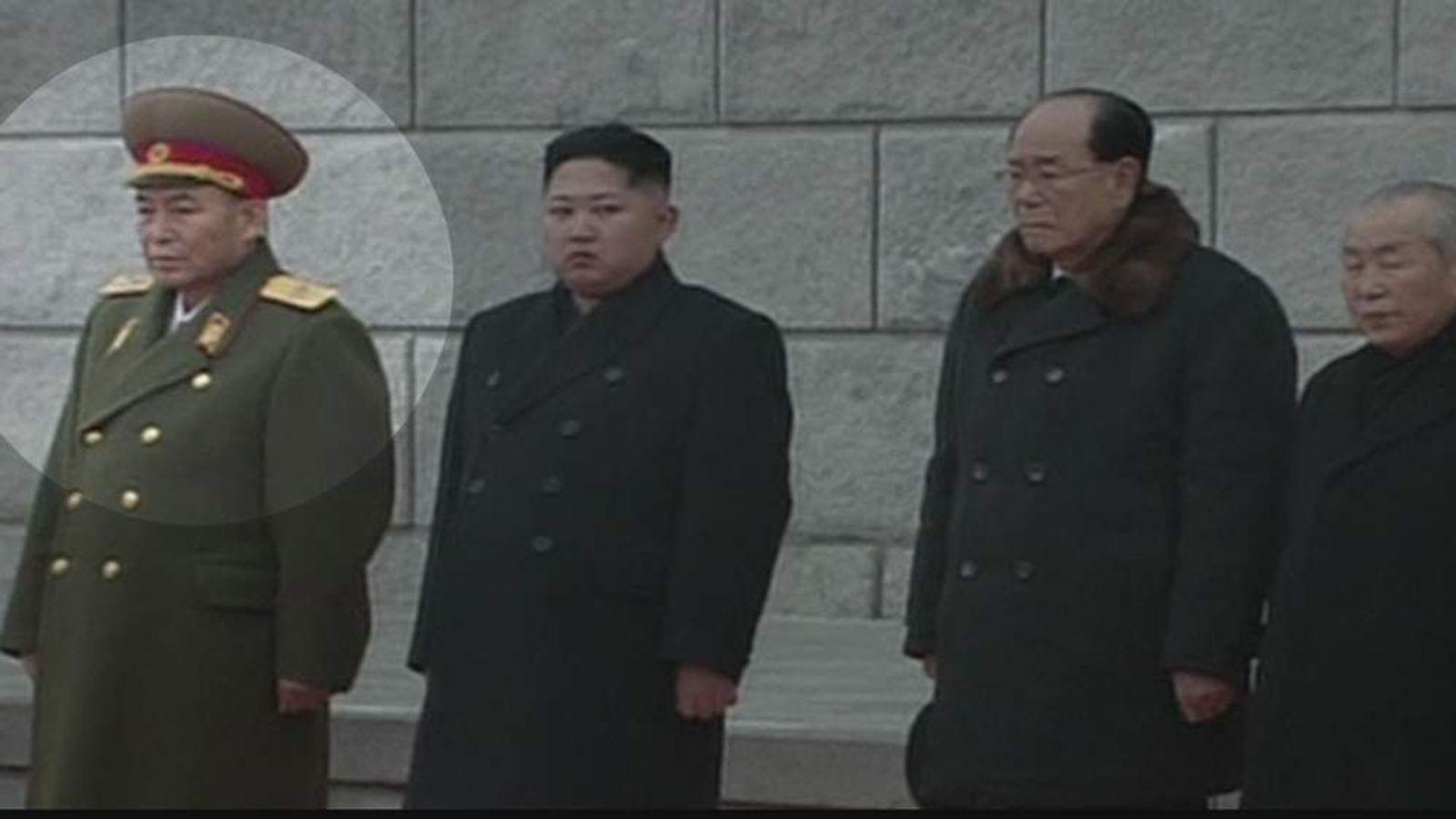 Ri Yong Ho and Kim Jong-Un