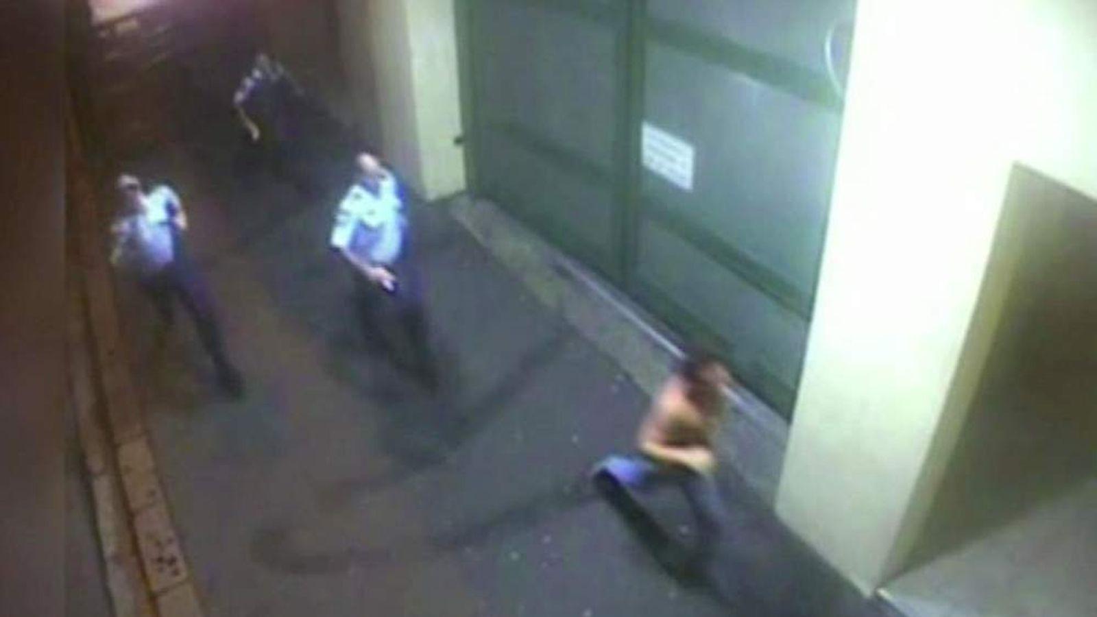 Police chase Roberto Laudisio Curti
