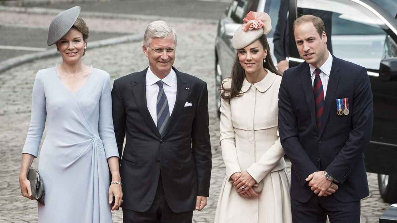 Queen Mathilde and King Filip of Belgium with Kate and William