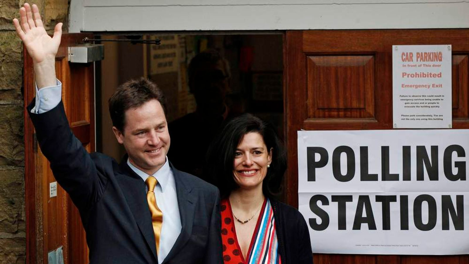 Nick Clegg And Wife Miriam After 2010 General Election Vote