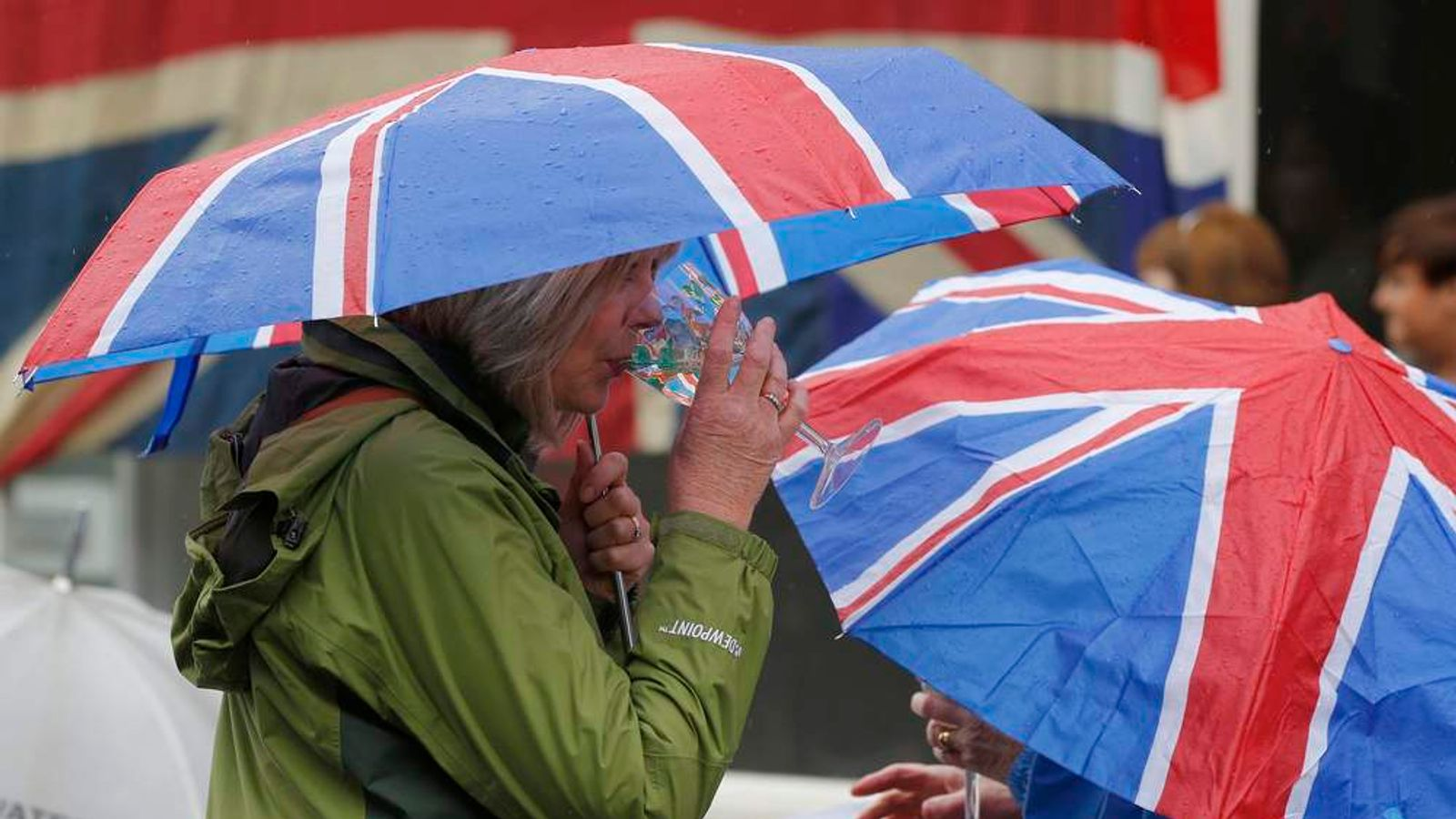 Union Flag umbrellas