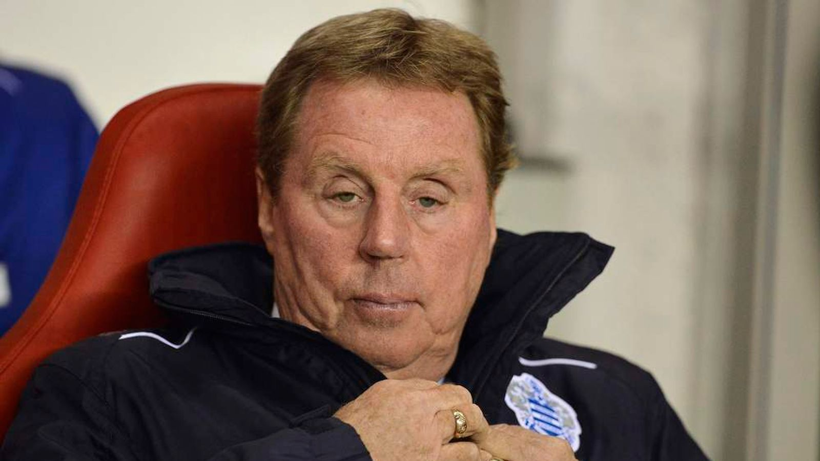 Queens Park Rangers coach Redknapp looks on ahead of their English Premier League soccer match against Sunderland in Sunderland