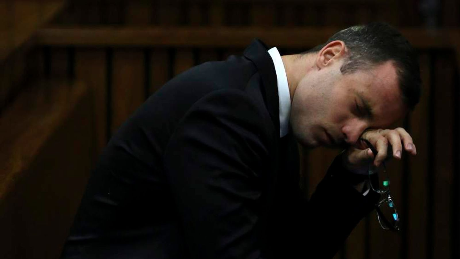 Oscar Pistorius attends his trial at the high court in Pretoria