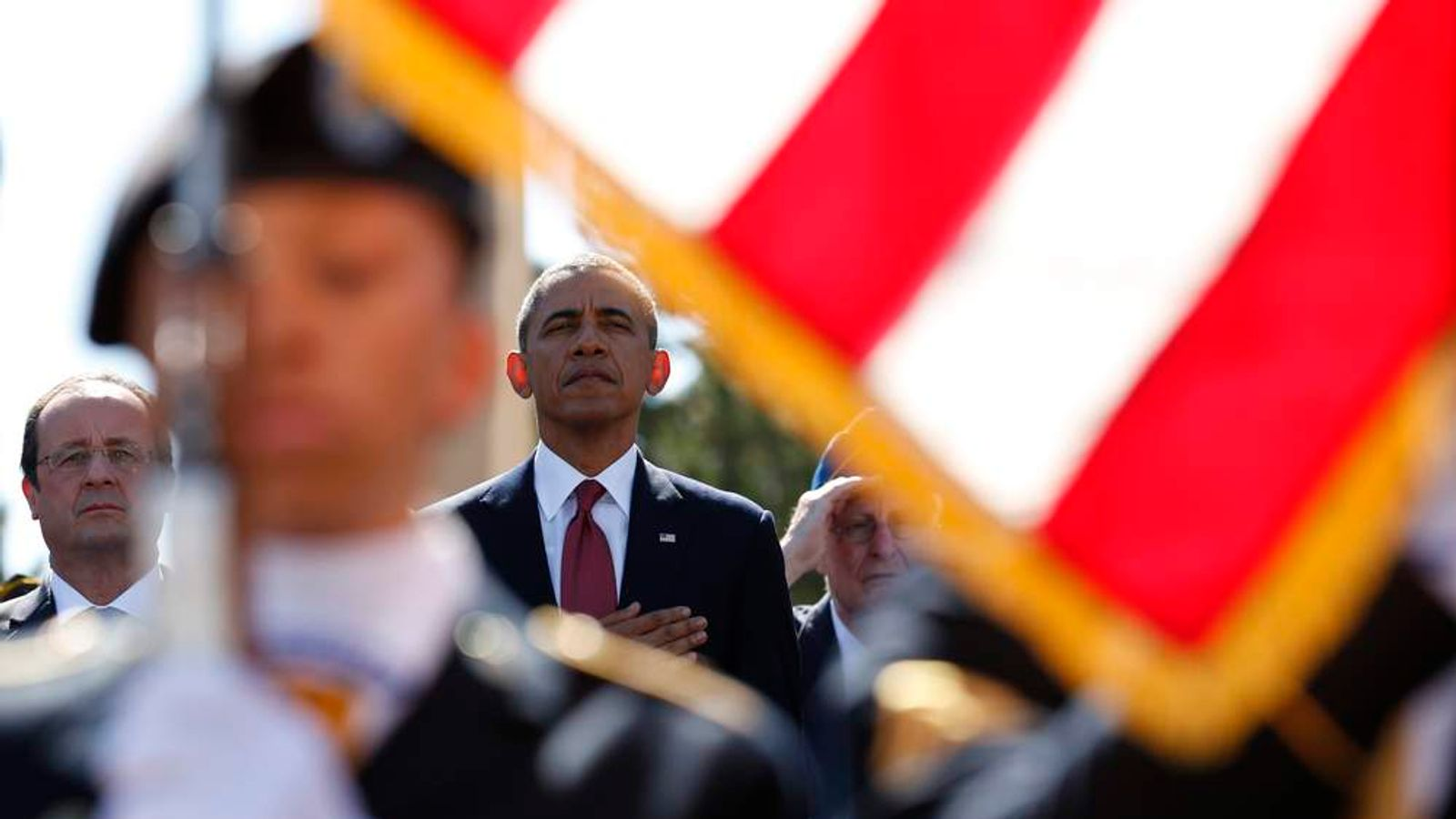 President Obama at D-Day commemorations in Colleville-sur-Mer