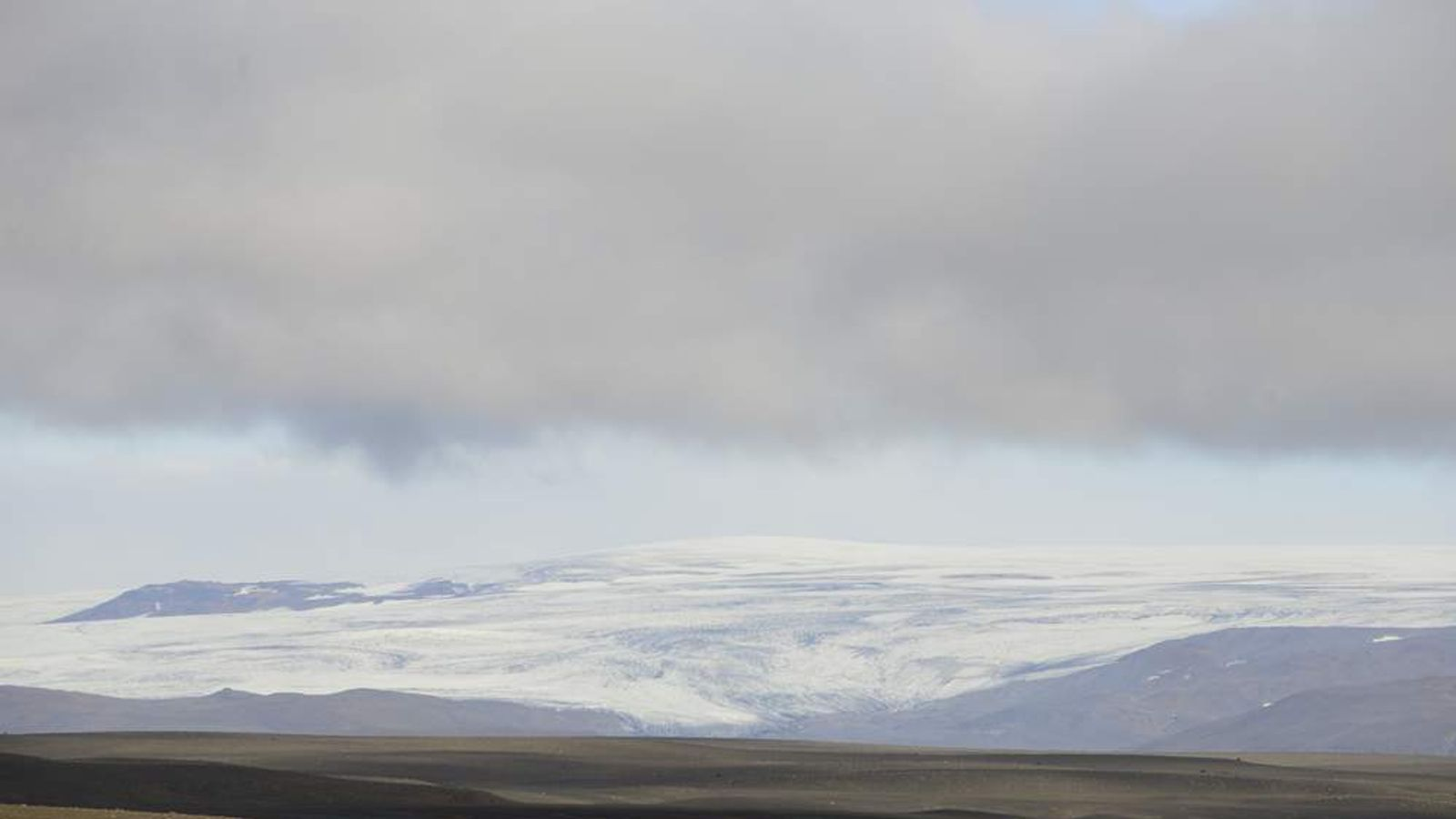 General view of the Hofsjokull glacier