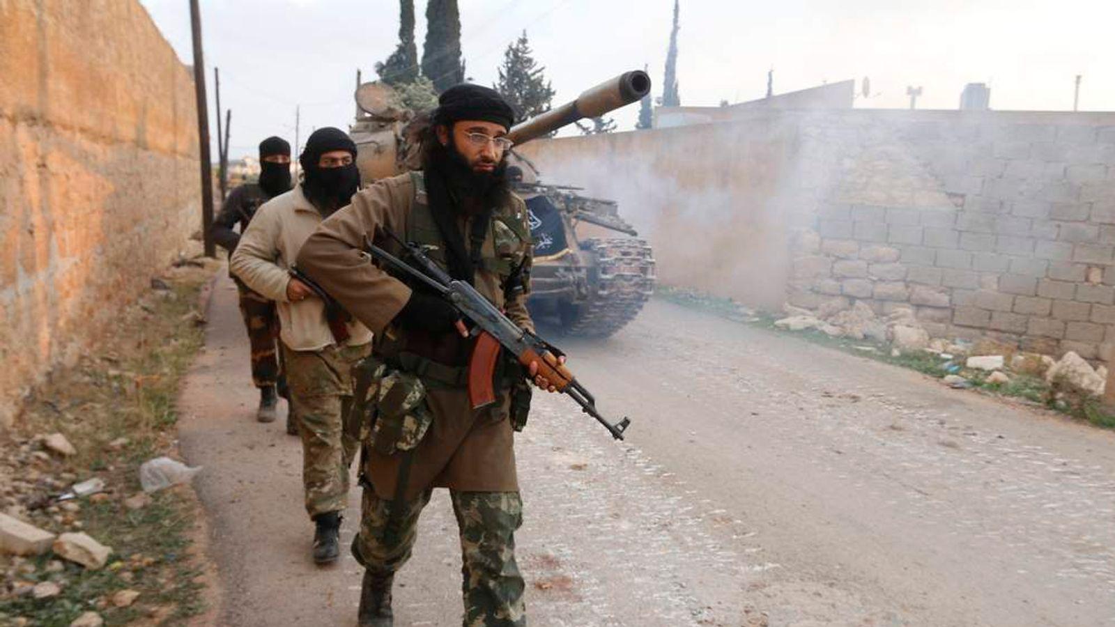 Members of al Qaeda's Nusra Front near Aleppo