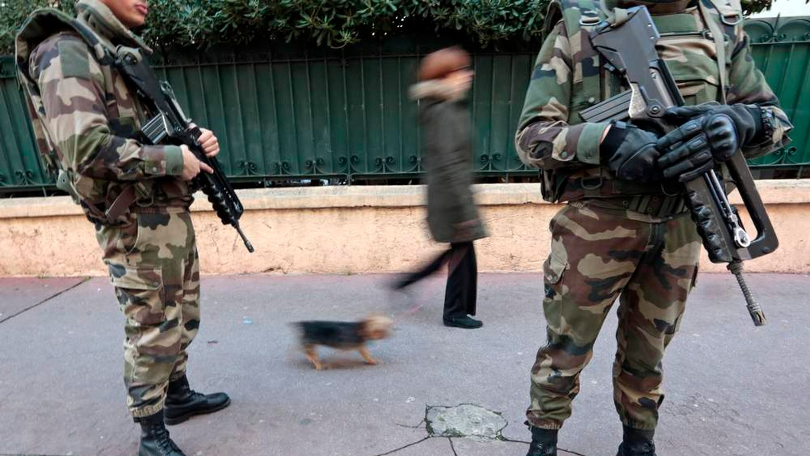 French soldiers in Nice