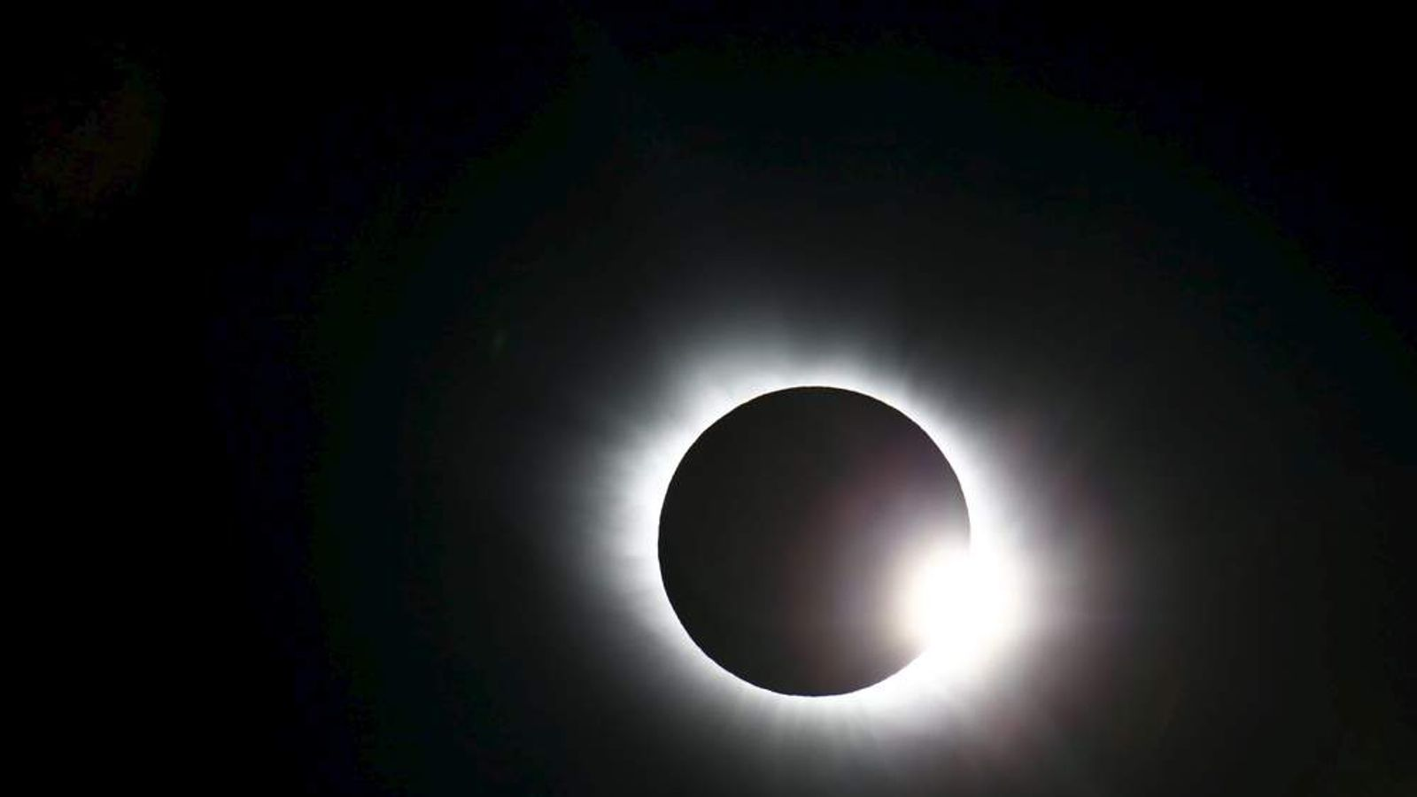 A total solar eclipse occurs over Svalbard