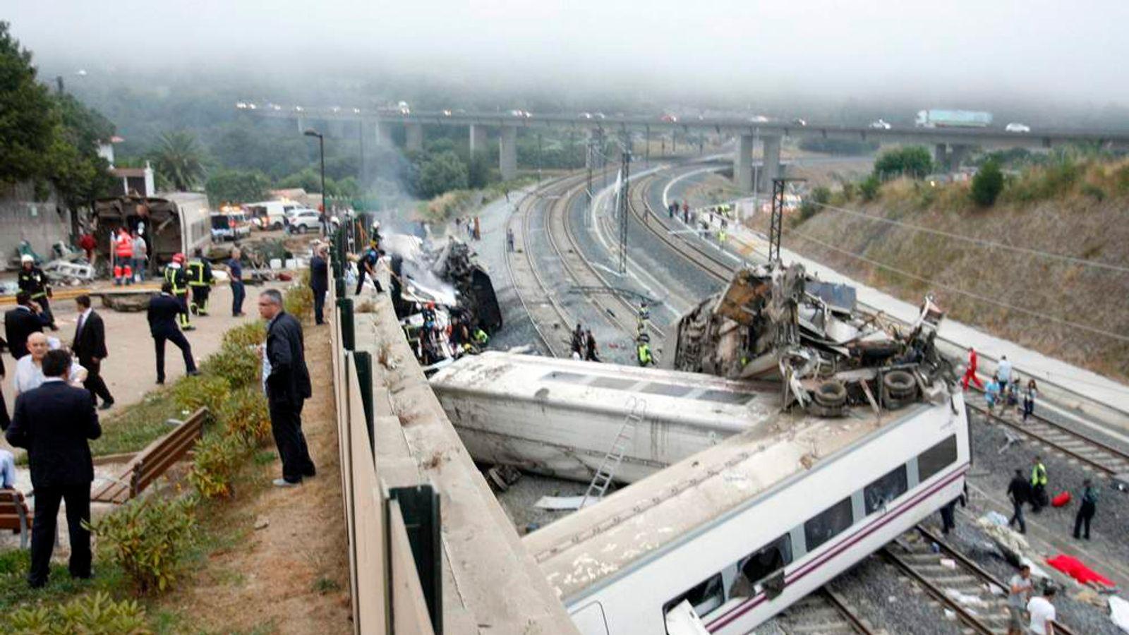 Spain Dozens Killed As Train Derails In Santiago de Compostela