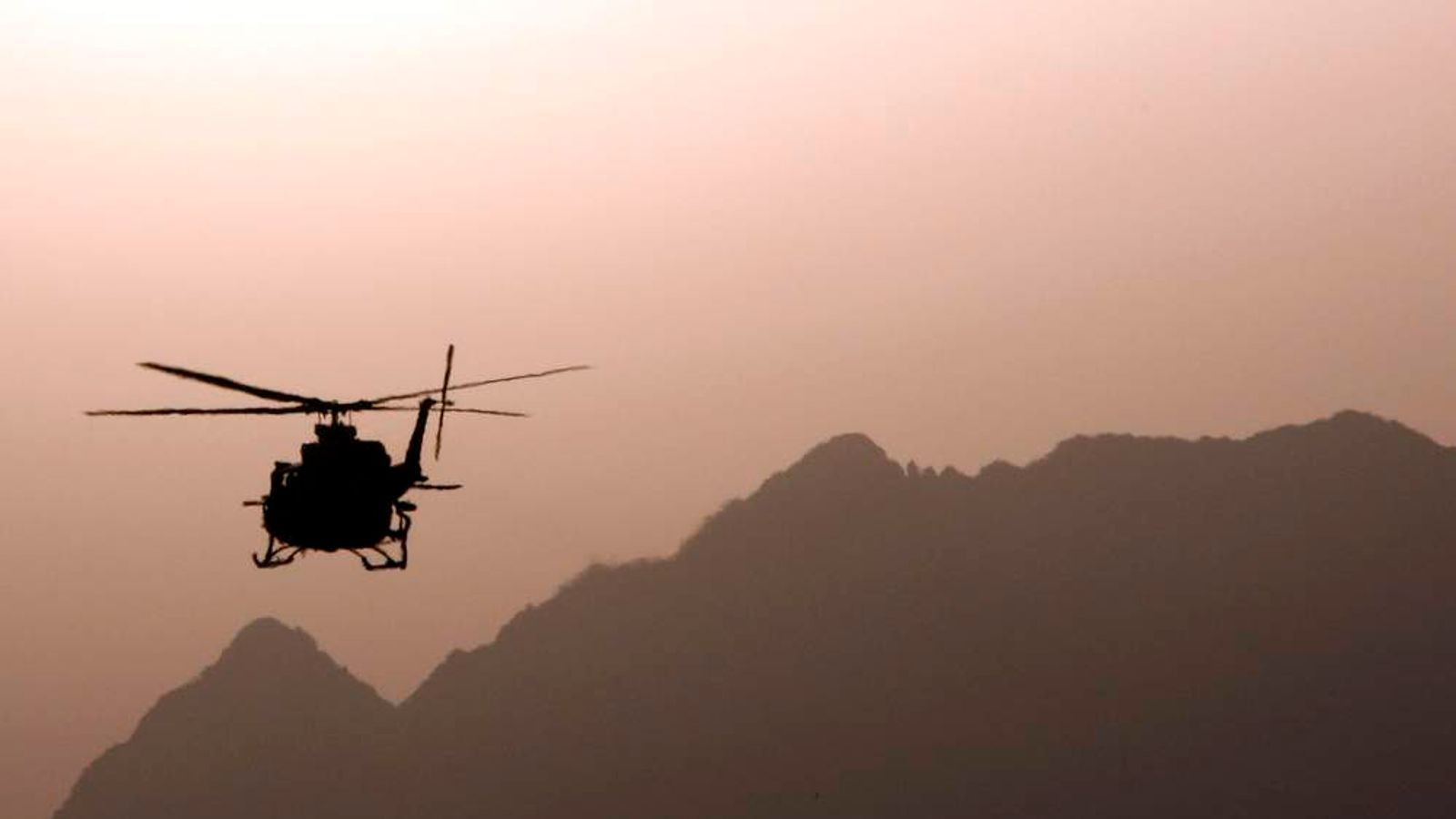 A Nato helicopter in Afghanistan