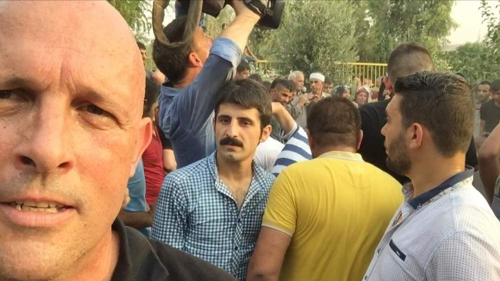 Sky's Sam Kiley Reports From The Funeral Of A Kurdish Boy