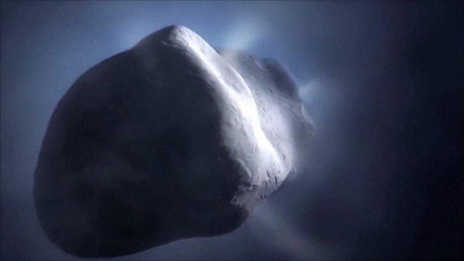 ESA computer animation showing comet