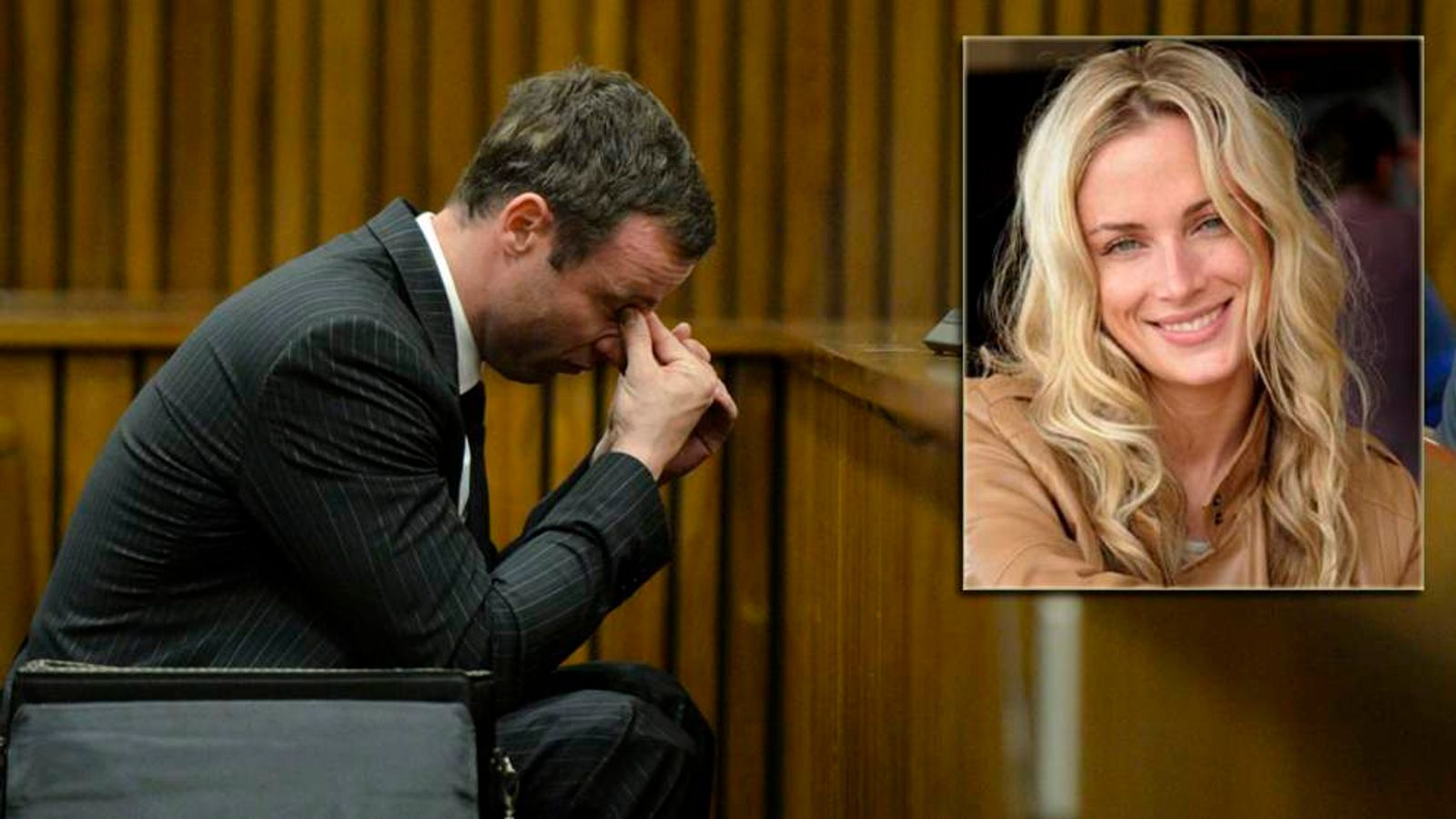 South African Olympic and Paralympic sprinter Pistorius sits in the dock during the closing defence arguments in the North Gauteng High Court in Pretoria