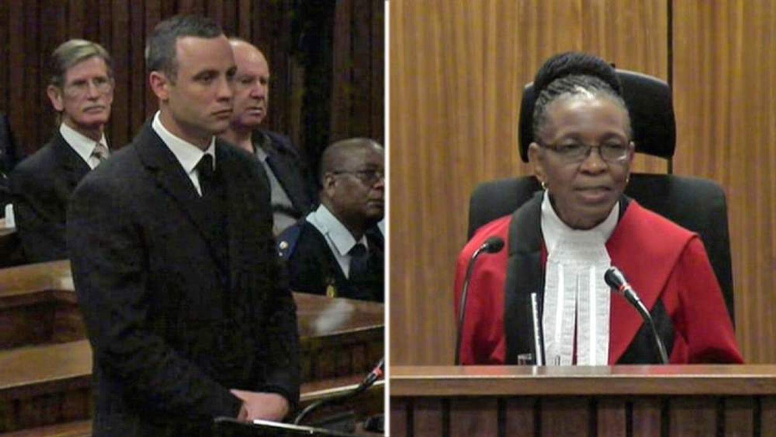 Oscar Pistorius and Judge Thokozile Masipa