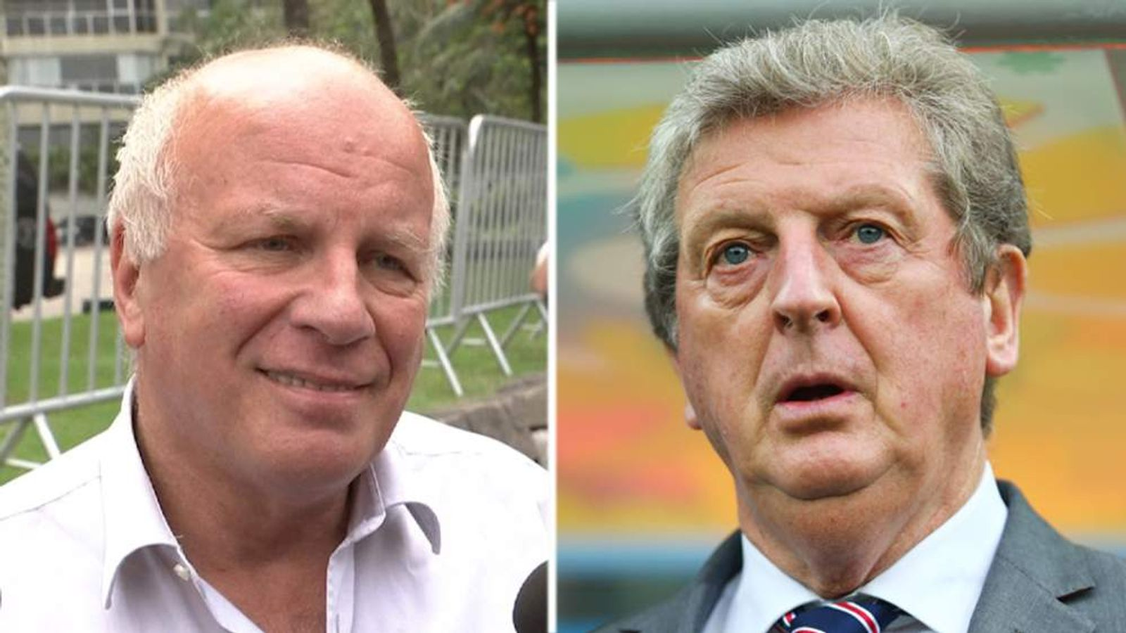 Greg Dyke and Roy Hodgson