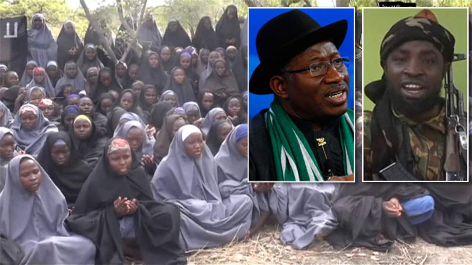 The kidnapped girls, Goodluck Jonathan and Boko Haram's Abubakar Shekau