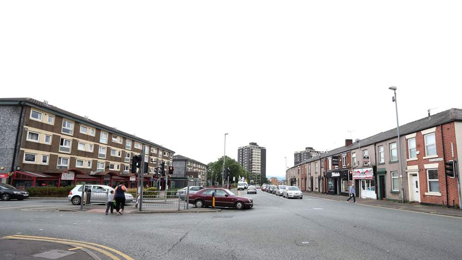 Spotland Road in Rochdale, Greater Manchester