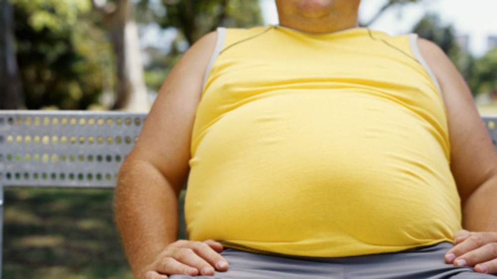 A file picture of an obese person.