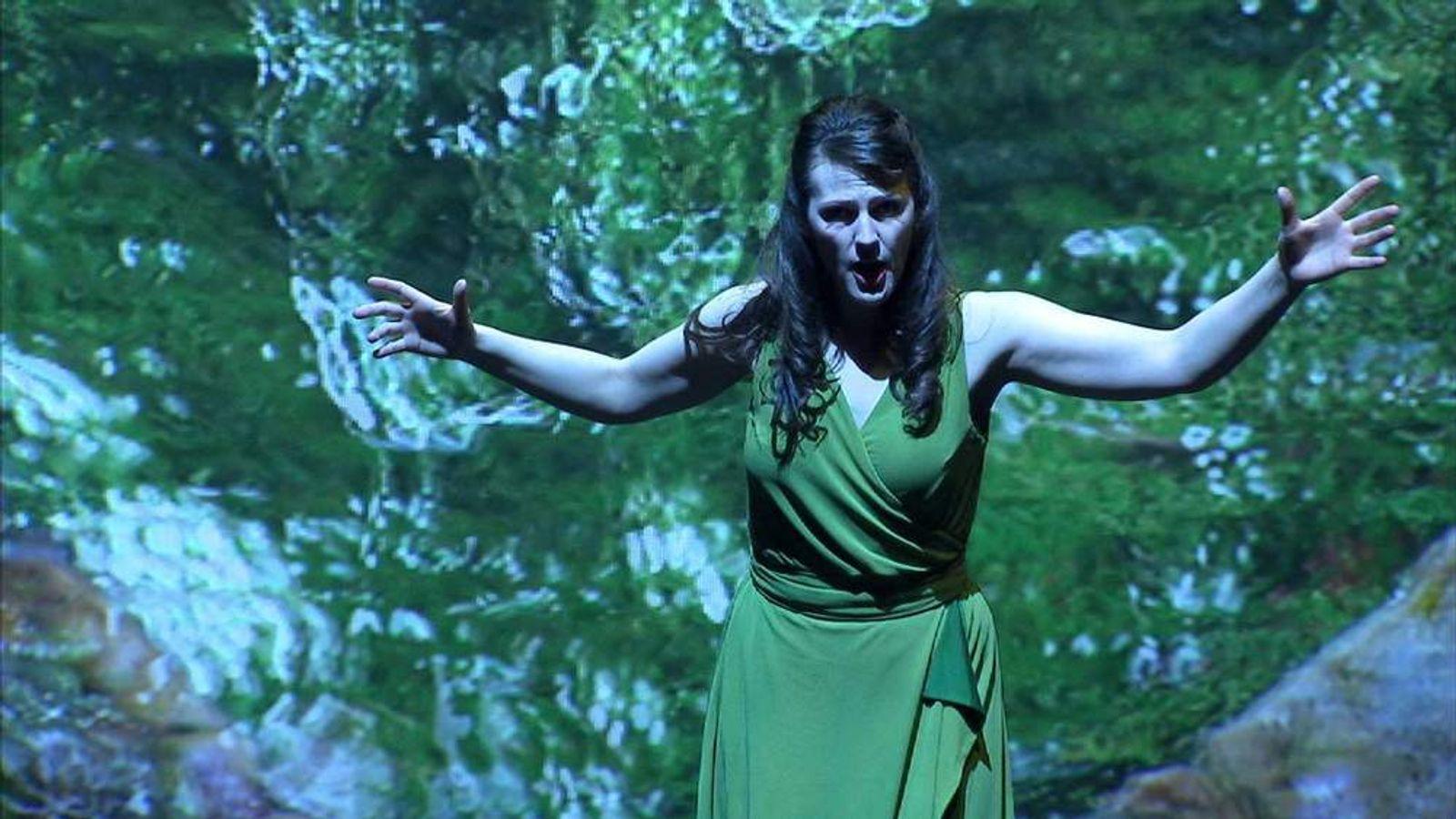A scene from new opera Sunken Garden