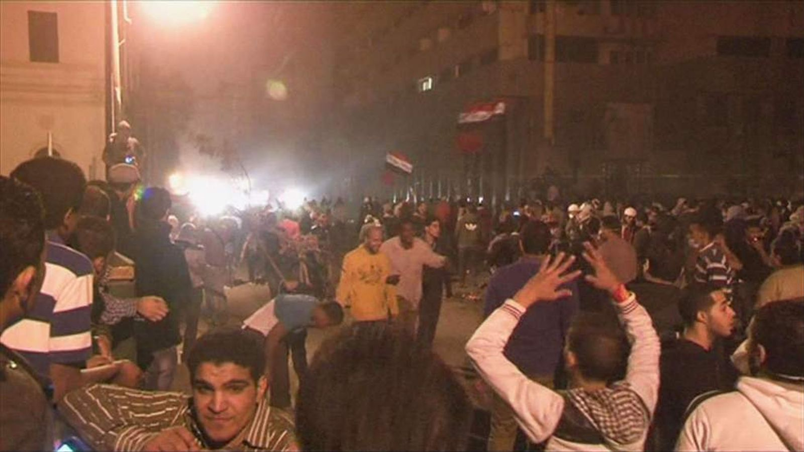 protests in Cairo's tahrir square