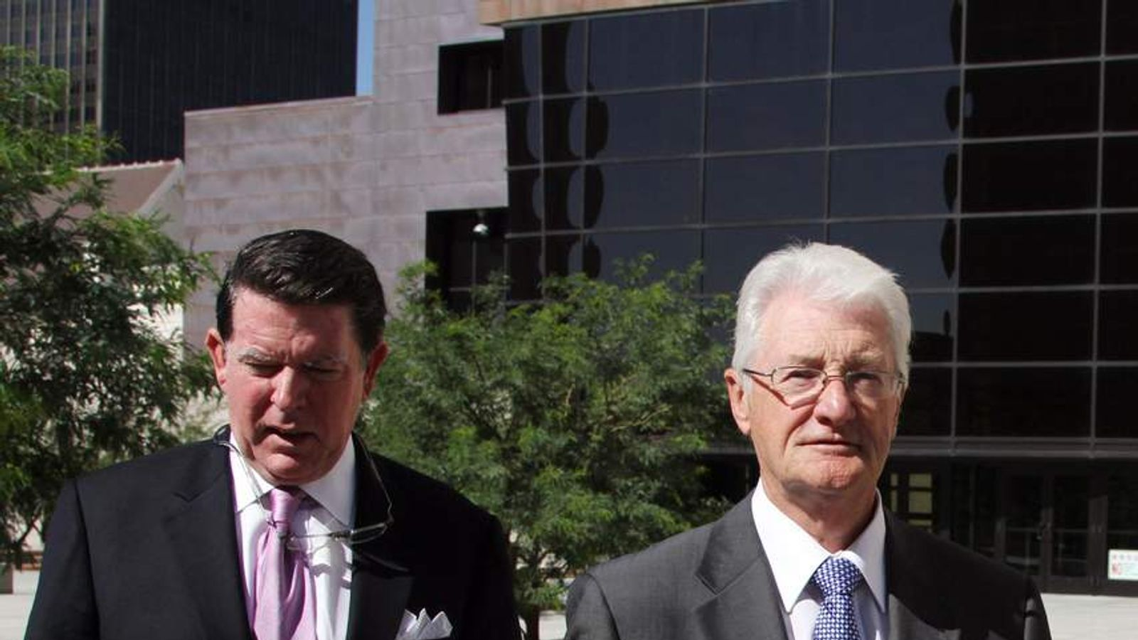 Christopher Tappin and lawyer Dan Cogdell