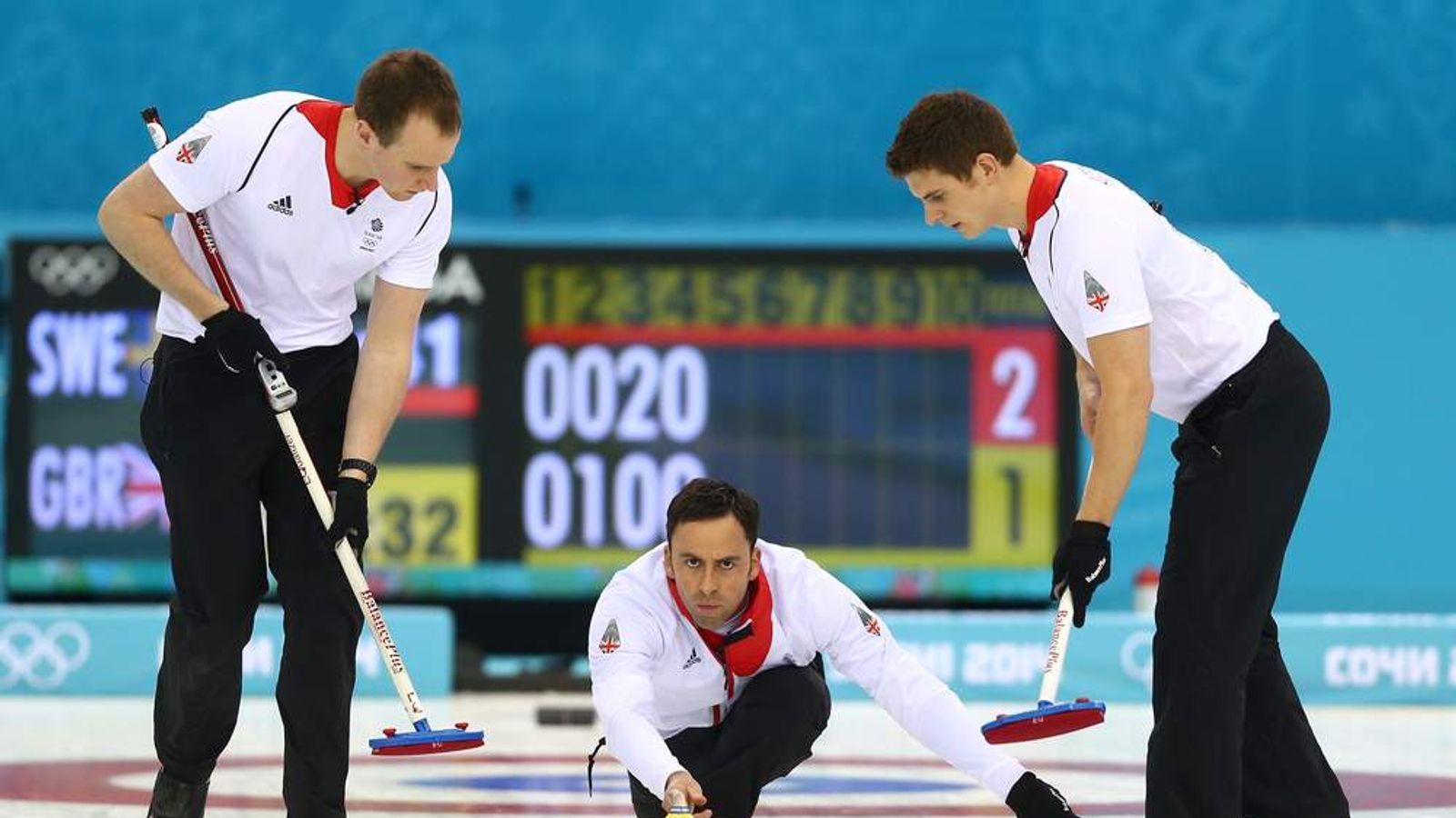 David Murdoch (C) at the Winter Olympics in Sochi, 2014