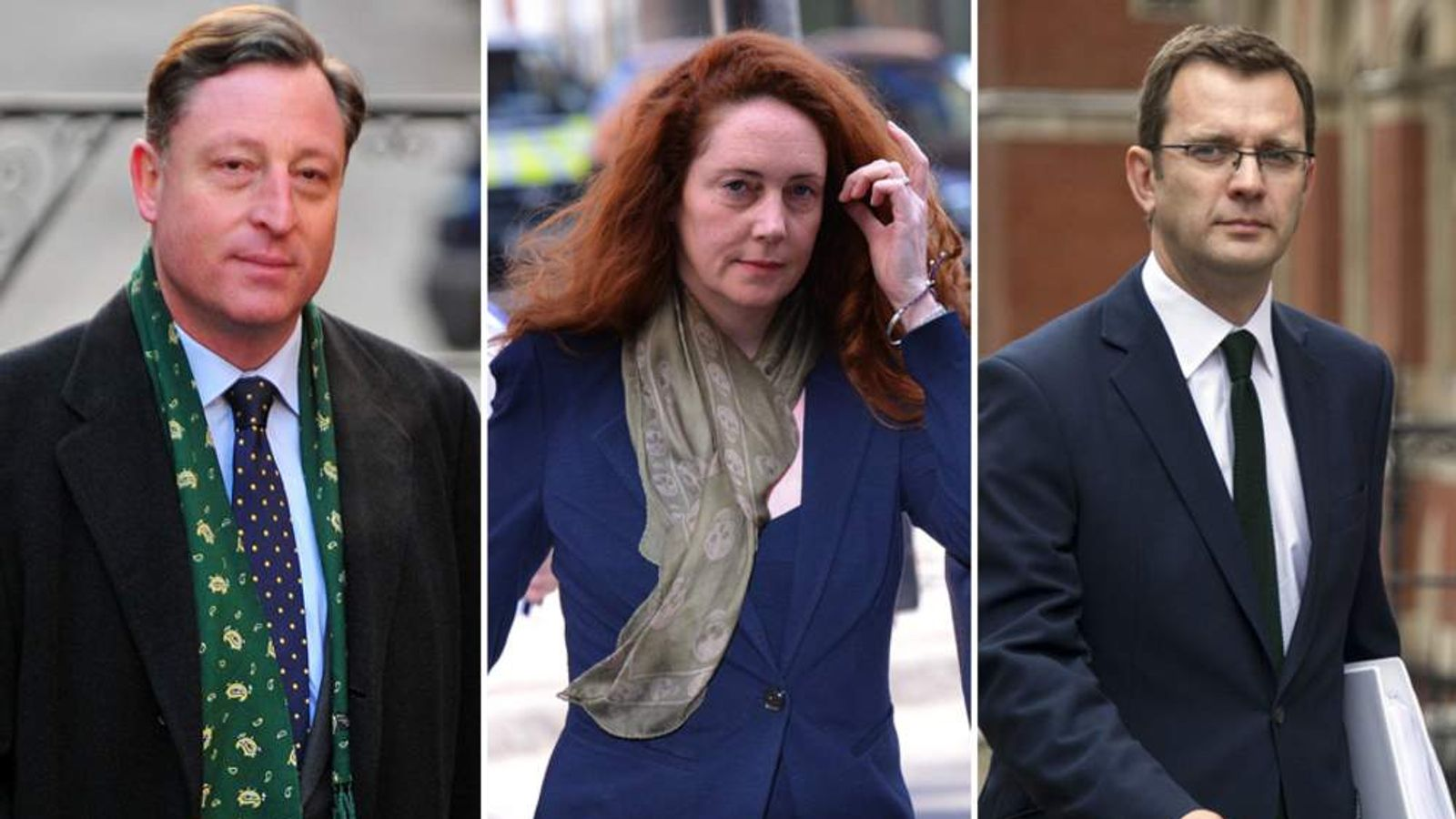 Neville Thurlbeck, Rebekah Brooks and Andy Coulson