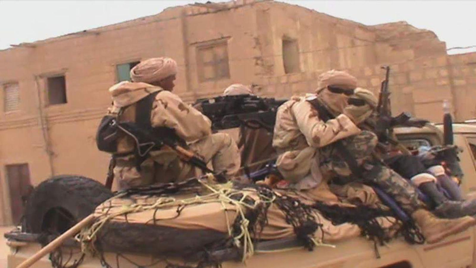 Timbuktu militants on truck