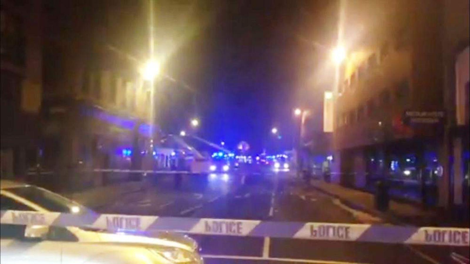 UK helicopter crashes into Glasgow pub