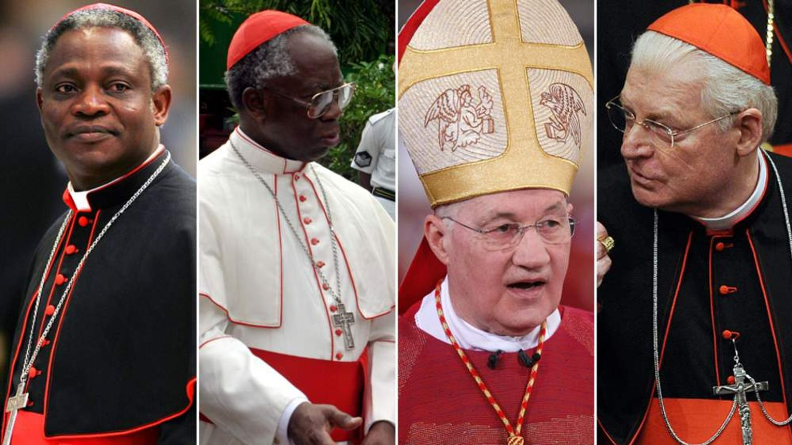 Pope Contenders (l-r) Peter Turkson Francis Arinze Marc Ouellet Angelo Scola