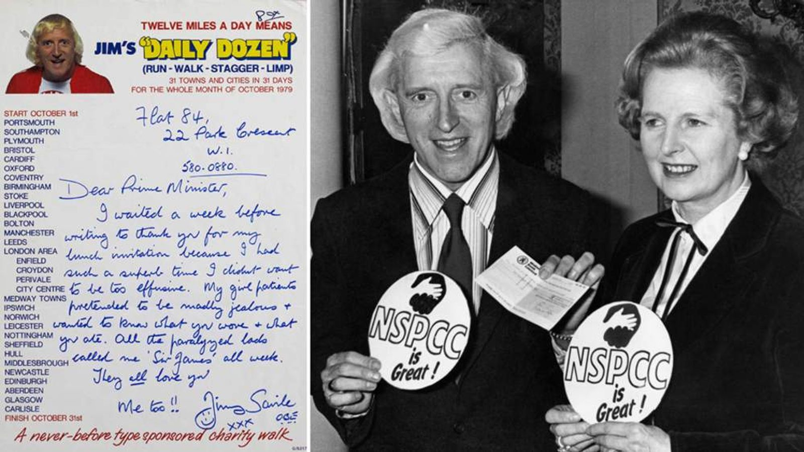 Jimmy Savile And Margaret Thatcher And Letter