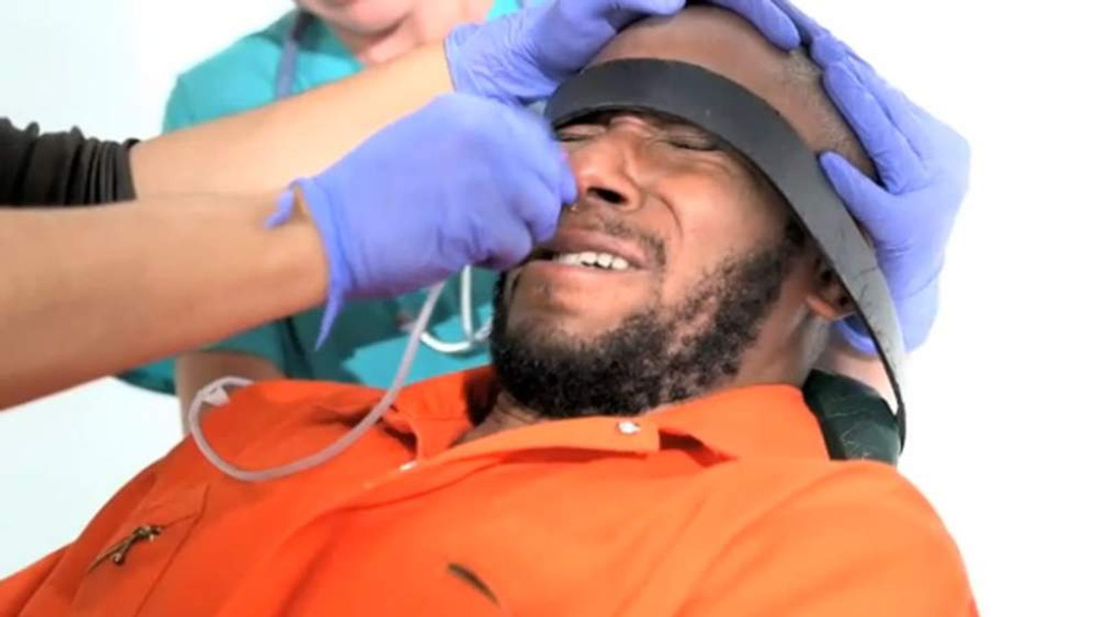 Mos Def takes part in force-feeding video for Reprieve.