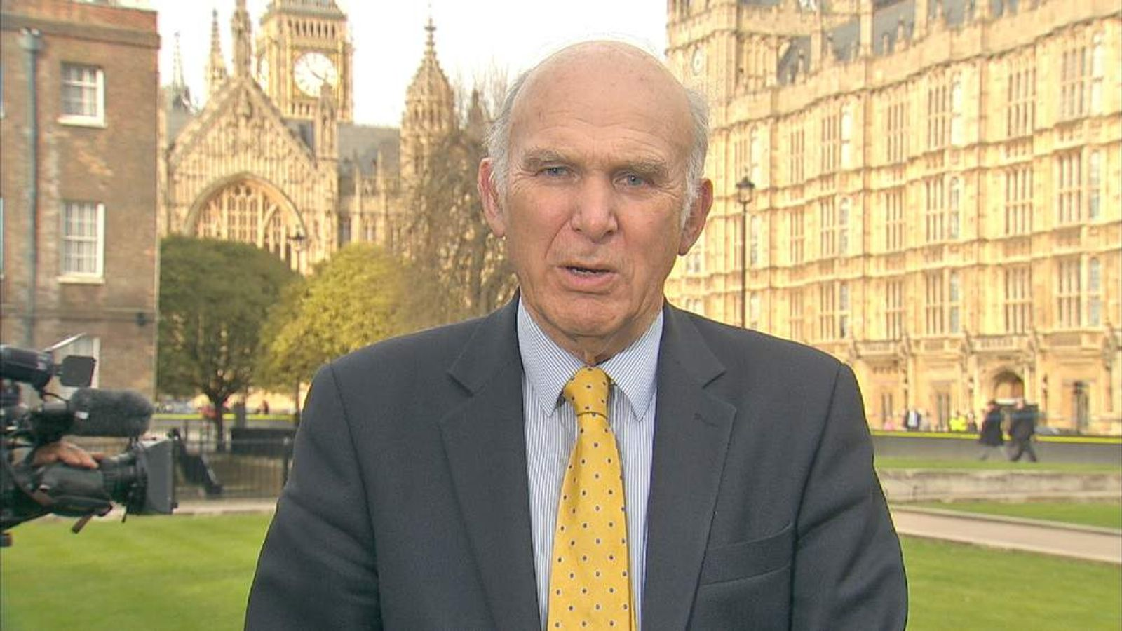 Vince Cable reacts to budget