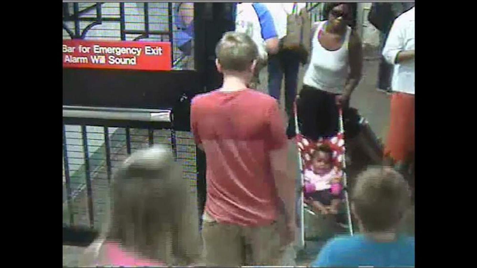 Baby abandoned on NYC subway platform