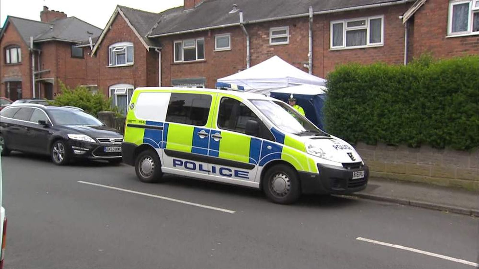 House where two found dead, three children found unharmed