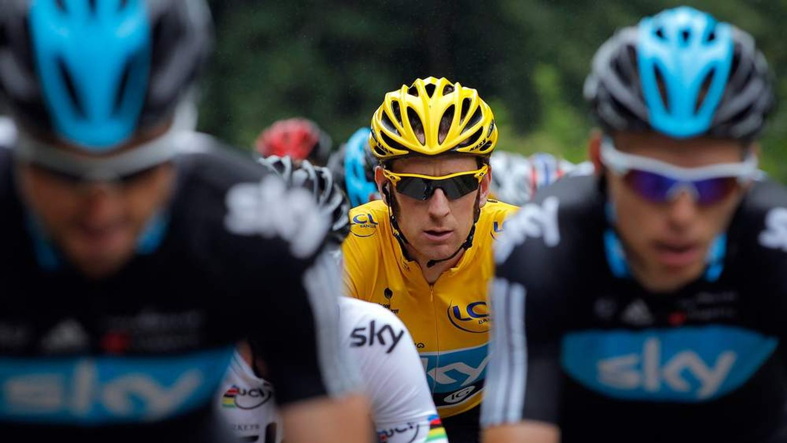 Bradley Wiggins In Action On Stage 14 Of The 2012 Tour De France