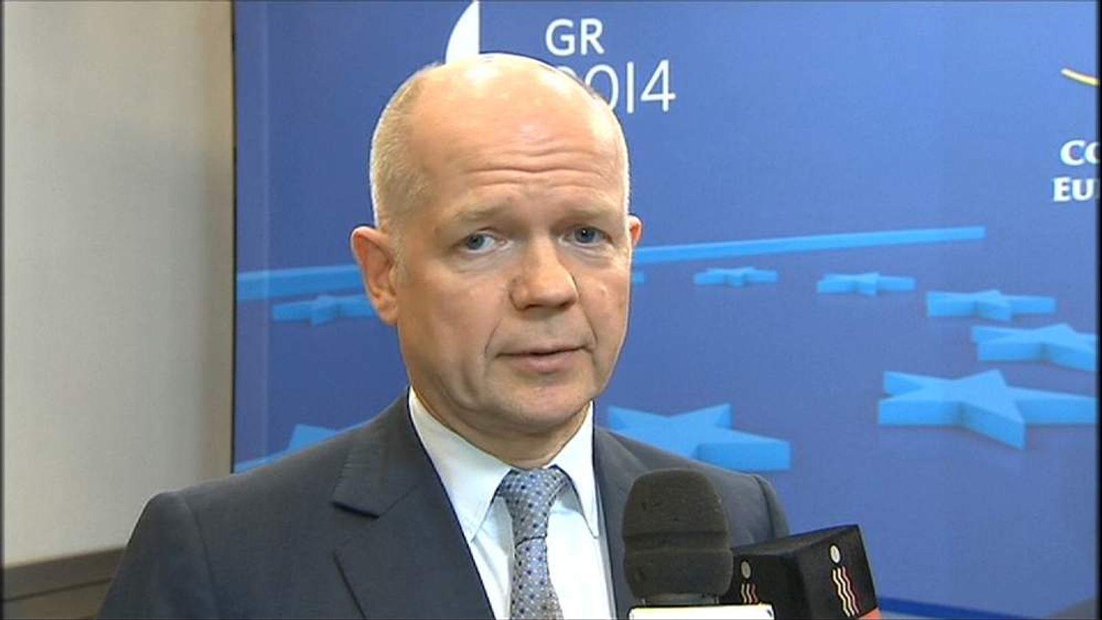 Foreign Secretary William Hague on Russia Ukraine sanctions