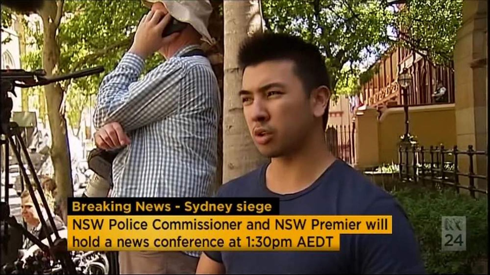 An eyewitness from the Sydney hostage situation