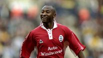 Peter Ndlovu of Birmingham City celebrates