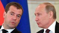 Medvedev and Putin