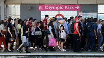 London 2012 Olympic Park Crowds