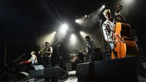 Mumford & Sons in concert in New Jersey in August 2012