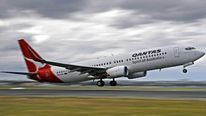 Qantas Boeing 737 jet