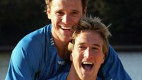 Olympic rower James Cracknell (top) With Ben Fogle