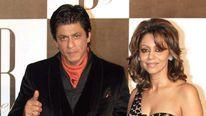 =Shah Rukh Khan with his wife Gauri