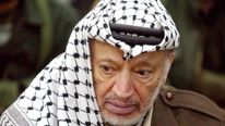 Yasser Arafat Conducts Friday Prayers