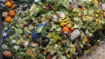 Waste food products stocked to produce methane before conversion into a biogas